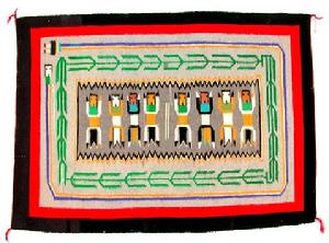 Native American Trading Company Navajo Ye'ii w/Rainbow Ye'ii Rug, Blankets and Tapestries to choose from.