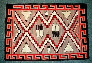 Native American Trading Company Navajo Teec Nos Pos-Style Rug Pictorial, Blankets and Tapestries and Rugs to choose from.